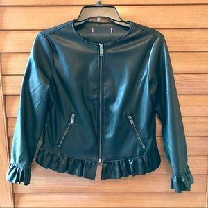Leather-like Black Jacket